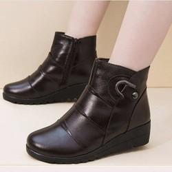 Giày boot nữ khóa kéo phong cách Hàn Quốc B043N