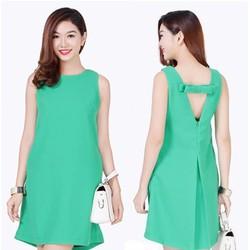 Đầm oversize đính nơ lưng thời trang - Có 5 màu lựa chọn