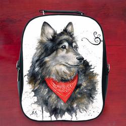 Balo hình thú chó sói đẹp k1 - Size Nhỏ