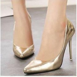 giày cao gót mũi nhọn nhũ kim tuyến