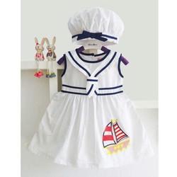 đầm thủy thủ bé gái kèm nón siêu xinh
