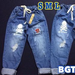 Baggy jeans lưng thun