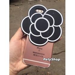 Ốp dẻo trong hoa trà iPhone 5 5S SE 6 6S 6 Plus 6S Plus