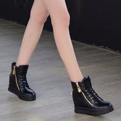 B042D - Giày Boot Nữ Cổ Cao Cá Tính
