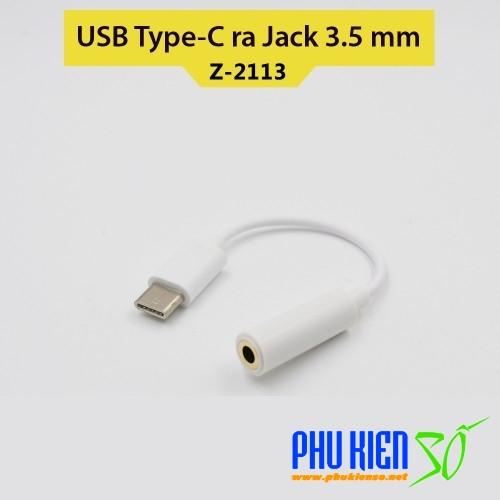 Cable chuyển từ USB Type-C sang Jack 3.5mm dùng cho tai nghe