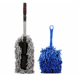 Bộ 1 chổi lau xe sợi dầu và 1 chổi chuyên dụng dọn nội thất