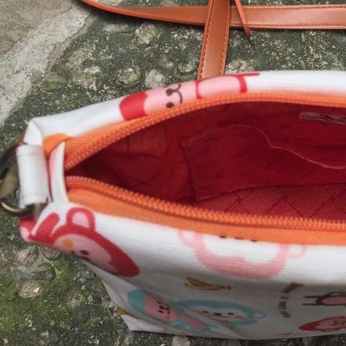 CBOT01 - Crossbody Bag Handmade họa tiết khỉ con