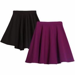Bộ 2 Chân váy xòe xếp ly trên gối cao cấp ZENKO CS4 2CHAN VAY 007 B P