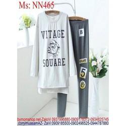 Đồ bộ mặc nhà dài hình chú chó dễ thương NN465