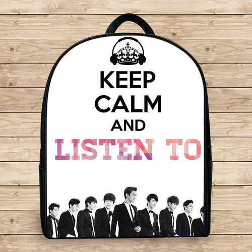 Balo keep calm and listen to k3 - Size Nhỏ