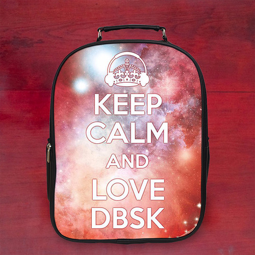 Balo keep calm and listen to dbsk k1 - Size Lớn