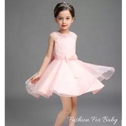7-9 tuổi Đầm công chúa màu hồng nhạt