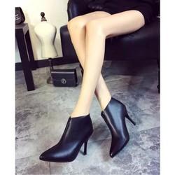Boot cao gót nữ cổ ngắn