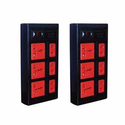 Combo 2 Ổ cắm 6 lỗ 2500W Điện Quang ĐQ ESK 2BR 6ECO - Đen
