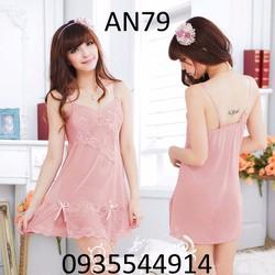 Váy ngủ nữ tính cao cấp Hàn Quốc AN79
