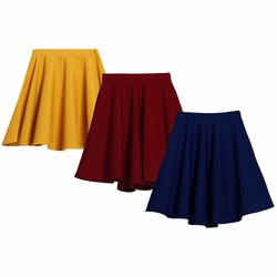 Bộ 3 Chân váy xòe xếp ly trên gối cao cấp ZENKO CS4 007 DR N Y