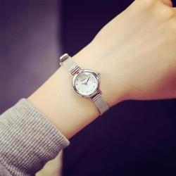 Đồng hồ bạc nữ dây mỏng quý phái
