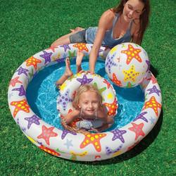 Bể phao bơi 3 tầng kèm bóng và phao bơi intex