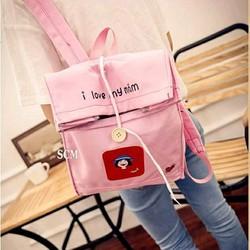 Balo đi học đi chơi màu hồng