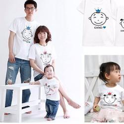 Áo thun gia đình Dad Mom Daughter GD2209A5 110k một áo
