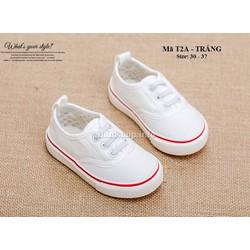 Giày học sinh tiểu và trung học T2A trắng
