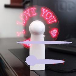 Quạt đèn led cầm tay chạy chữ