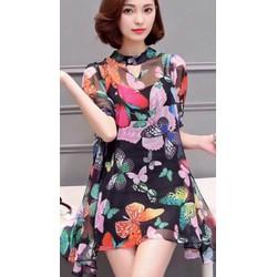 Đầm suông cổ Lọ thời Trang cực xinh yy038