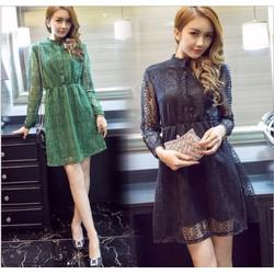 Đầm ren xòe thời trang cao cấp 2016 - B091304