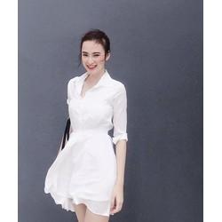 Váy voan trắng xòe dễ thươngnhư Angela Phương Trinh M31016