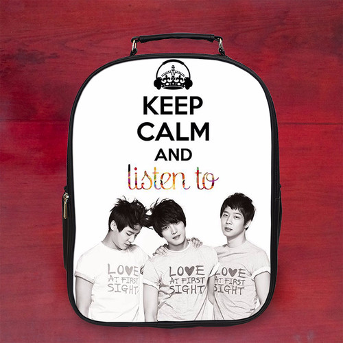 Balo keep calm and listen to đẹp k1 - Size Lớn