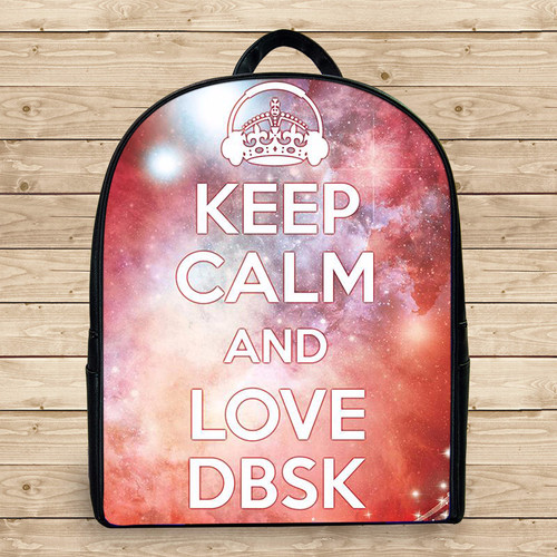 Balo keep calm and listen to dbsk k3 - Size Nhỏ