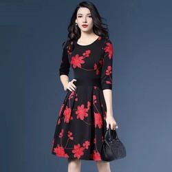 Hàng order: Váy hoa hồng cao cấp DX688