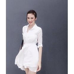 Đầm Voan Cổ Sơ Mi Xinh Như Phương Trinh D355