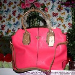 Túi xách da công sở Pra màu hồng sang trọng TXVP19