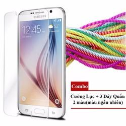 COMBO Cường Lực Samsung Galaxy NOTE 4 - 3 Dây Quấn 2 màu[ngẫu nhiên]