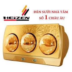 Đèn Sưởi Nhà Tắm Heizen 3 Bóng Vàng