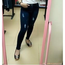 Quần Jean xanh xước