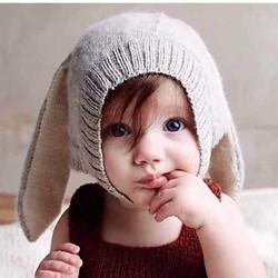 Mũ len tai thỏ cho bé cực yêu