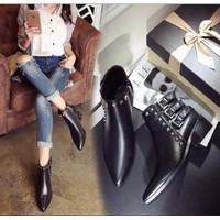 Giầy boot nữ thời trang cao cấp 2016 - FN963