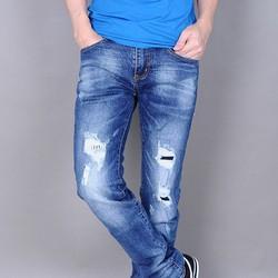 Quần Jeans nam rách bụi thời trang GC