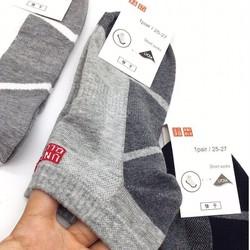 Combo 3 đôi tất nam cổ ngắn uniqlo Nhật Bản
