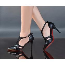 HÀNG NHẬP LOẠI 1: Giày gót nhọn chất liệu ngoại