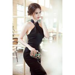 Đầm cổ yếm dự tiệcthiết kế ôm body đẹp như Ngọc Trinh M31025