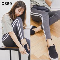 Quần legging sọc đôi cá tính trẻ trung-Q369