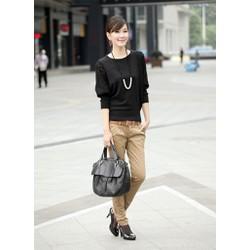 Áo len dệt kim nữ cánh dơi, tay phối ren thời trang, nữ tính-A2904
