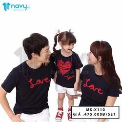 Đồng phục áo gia đình Love