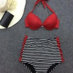 Bộ Bikini cạp cao áo cột B03