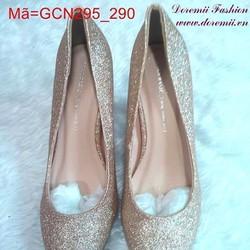 Giày cao gót mũi nhọn ánh nhũ sành điệu GCN295