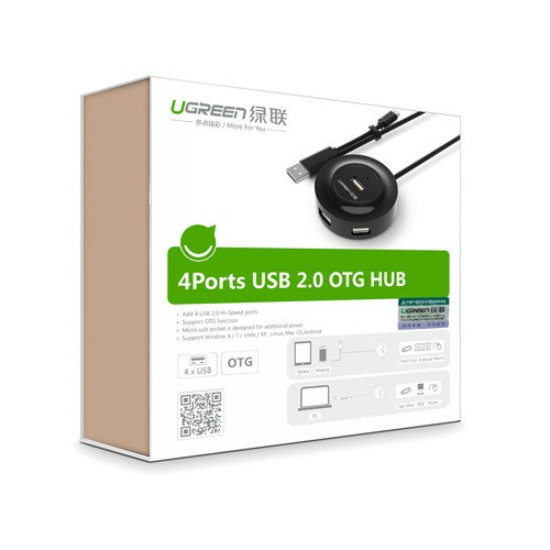 Bộ chia USB 4 cổng hỗ trợ OTG chính hãng Ugreen 20278 2