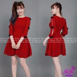Shop SuSu - Đầm xòe tay lỡ cách điệu
